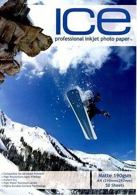 ICE Matte Photo Paper, 190gsm A4 - 50 Sheets