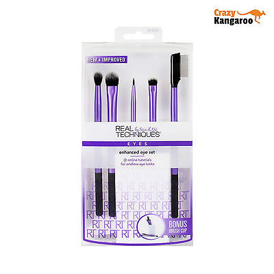 New & Original Real Techniques Enhanced Eye Brush Set (1534) Free Delivery