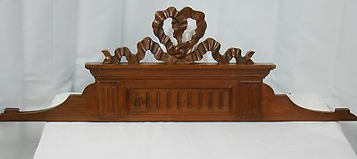 US0039 Hand Carved Wood Pediment with wooden ribbons