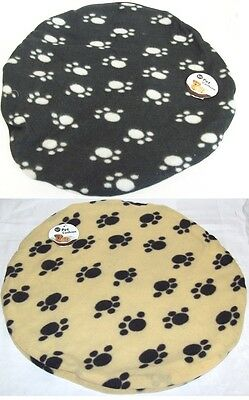 World Of Pets Small Round Fleece Pet Cat Dog Cushion Blanket Floor Bed Mat 45cm