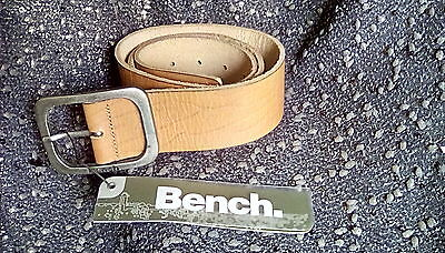 S22 -New Mens Bench Brown Leather Belt 90Cms