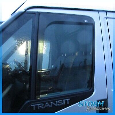 Wind Deflectors for Ford Transit Mk7 2006 - 2013 In Channel Dark Smoke - Pair