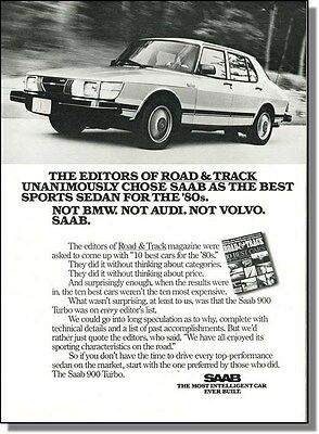 1981 Saab 900 Turbo Sports Sedan Car-Ad