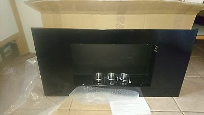 Wall Mounted Alcohol Fireplace Heater Bio Ethanol Indoor Burner In Black