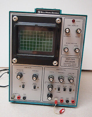 BELL & HOWELL SCHOOLS 0SCILLOSCOPE 10D-203-3 HEATH for parts