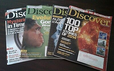 Lot of 4 DISCOVER Magazines Science for the Curious - 2015