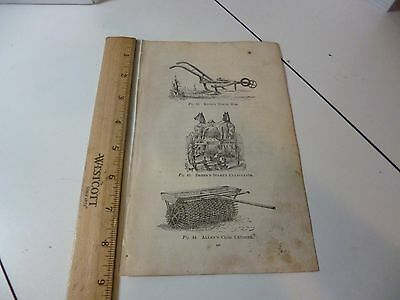 Antique 1870 Knox Horse Hoe, Dreer & Allen Engraving Images from Farmer's Book