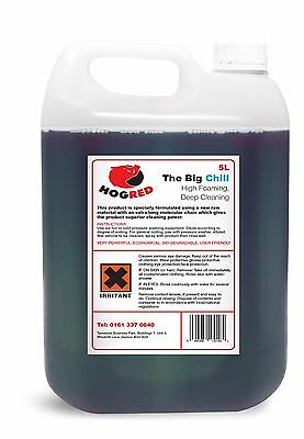 Hog Red Snow Foam 5 Litre Non Caustic Excellent Deep Cleaning -Free Postage