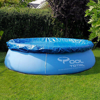 6/8/10ft Round Swimming Paddling Pool Cover Inflatable  Easy Fast Set Rope Ties