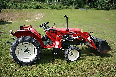 vintage tractor Yanmar 1610 model 1970-1971 tractor and front loader red 833 hrs