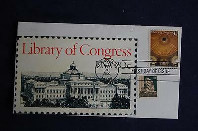 Library of Congress Bicentennial 33c Stamp Combo FDC William S#3390 11442 W/3447