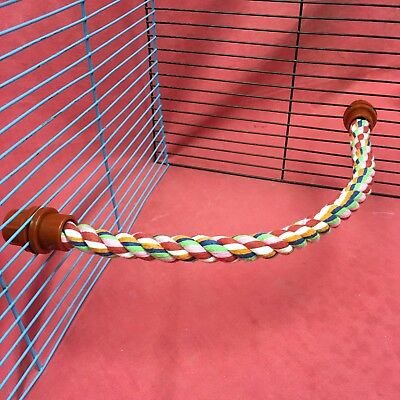 Rope Toy 15 Inches Flexible Chew Gnaw Exercise Climb Play Colourful Hamster Rat