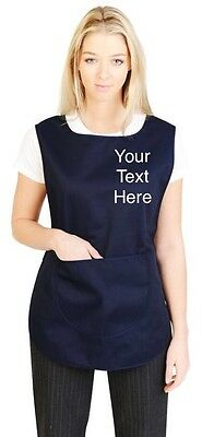 personalised Apron work tabard With Pocket WorkWear Overall Catering Cleaning