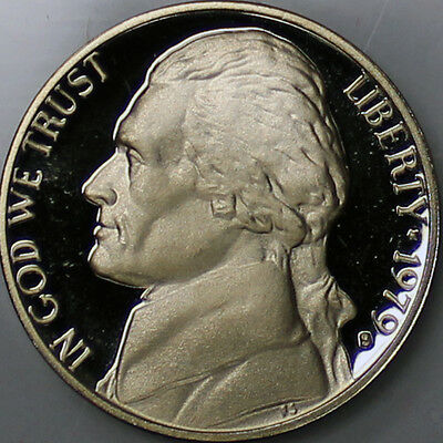 1979 S Type 1 filled  S Jefferson Nickel Gem Deep Cameo Proof Coin