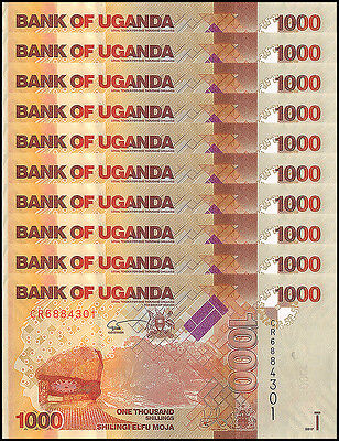 Uganda 1,000 (1000) Shillings X 10 Pieces (PCS), 2017, P-NEW, UNC