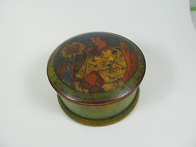 Vintage painted wooden trinket box