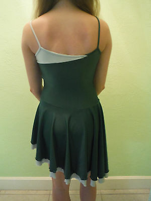 green and gray dance costume size small. Two toned. spaghetti straps