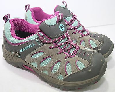 Merrell Chameleon Low Lace Waterproof Hiking Shoes - Youth Girls Kids Size 12 M