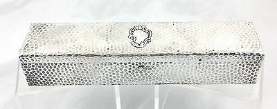 Extremely Rare Antique Arts And Crafts Sterling Silver Pen & Pencil Box / Case