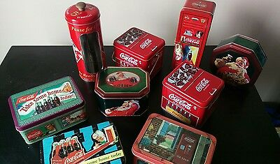 Lot of Coca Cola Tin Collectibles (Brand New)