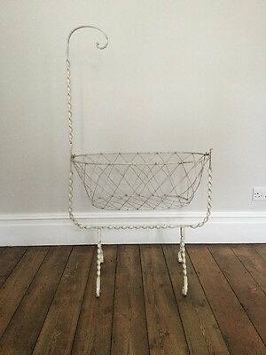 Antique Victorian Iron Baby Swinging Crib Cot.