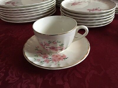 Peach Blossom Bolero  W S George teacup and saucer