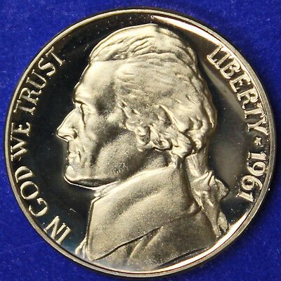 1961 Jefferson Nickel Gem Proof Ultra Cameo Coin (SP)
