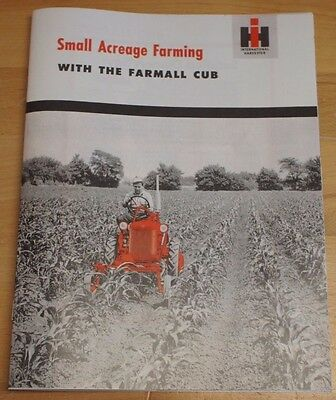 Small Acreage Farming with the Farmall Cub IH Sales Promotional Dealer Booklet