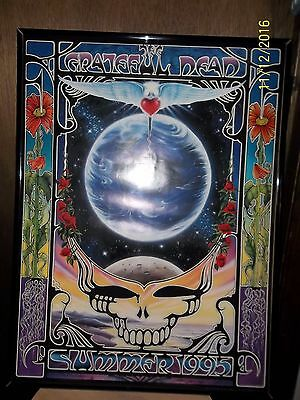 Grateful Dead Original 1995 Final Tour Poster Framed