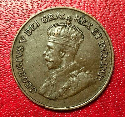 1923 Canada Coin One Cent  Better Grade