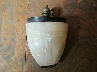 3 1/4 mother of pearl vintage bottle antique collectible