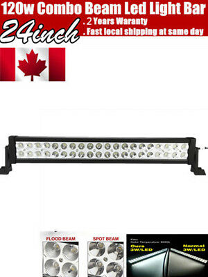 22inch 120w LED Light Bar Work Flood Spot Offroad Truck Jeep Driving SUV 4WD NEW