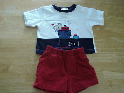 Infant Outfit Baby Boy Shirt and Shorts - 0 - 3 months