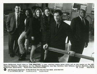 Dylan Mcdermott Lisa Gay Hamilton The Practice Cast Original 1997 Abc Tv Photo