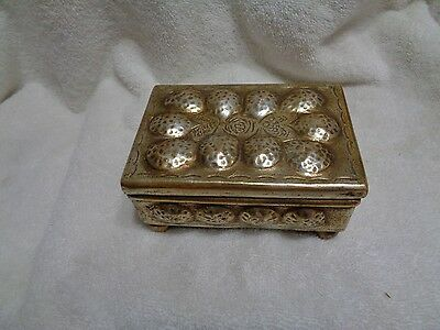 Vintage Jewelry Trinket Box by Borghese of Italy Chalkware GREAT CONDITION