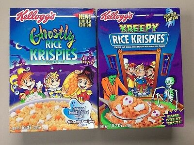 Kellogg's 2000 Ghostly Rice Krispies Halloween & Kreepy Limited Ed. Cereal BOX
