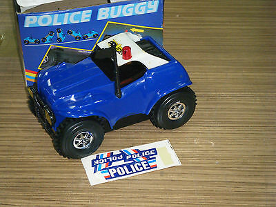 Vintage Boxed 1980's Police Buggy Battery Operated Car