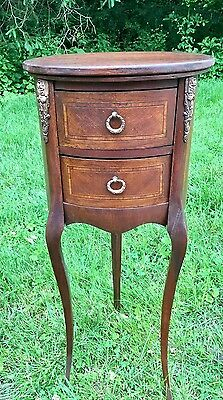 Antique/Vintage French Louis XV Style 3 legged Nightstand End Table