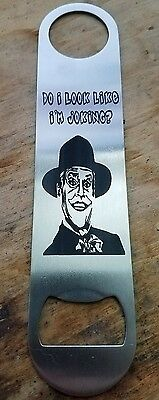 The joker '89 stainless steel bottle opener/church key