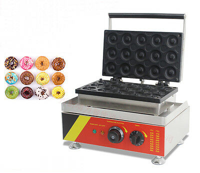 New Design Nonstick Commercial Electric 110V 15pcs Mini Doughnut Baker Machine