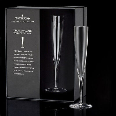 WATERFORD CRYSTAL Elegance Champagne Classic Flute, Pair - NEW