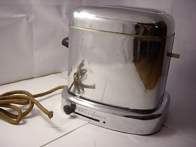 AUTO BREAD TOASTER, MONTOGOMERY WARD., Model 86-05DE Chrome D-4 RARE
