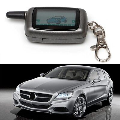 Vehicle Security 2 Way Car Alarm LCD Remote Controller Keychain For StarLine A9