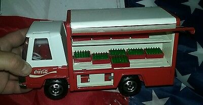 Toy Coca Cola Buddy L Toy Press Steel Coke Delivery Truck 1970's With Bottles
