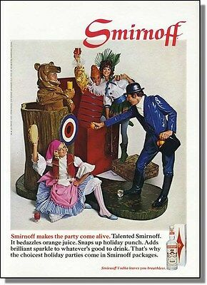 1968 Smirnoff Vodka makes the party come alive - People as toys photo-ad