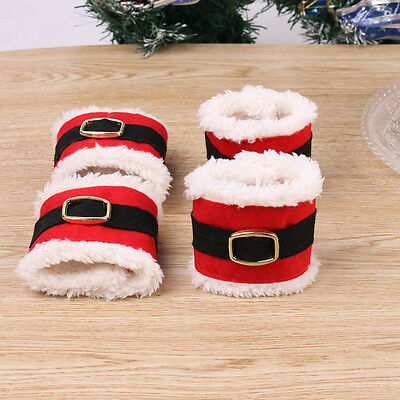 4pcs Christmas Napkin Rings Serviette Holder Wedding Banquet Dinner Decor YA