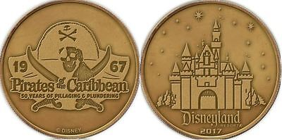 D23 Pirates of the Caribbean 50 Years Anniversary Coin Solid Bronze Exclusive