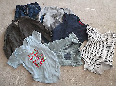 Baby boy clothes 18-24 months bundle Next George TU & I'm awsone onsie