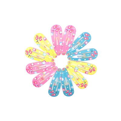 12x BABY GIRLS MINI HAIR CLIPS SMALL TINY GLITTER HAIR CLIPS BABY SNAP HAIR CLIP