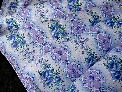 Vintage French brushed floral cotton very good condition cond from 1930-1940